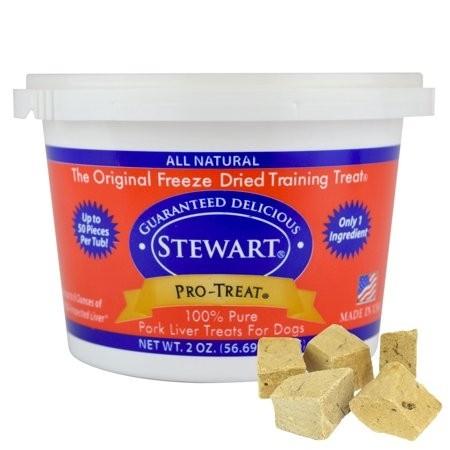 STEWART® PRO-TREAT FREEZE DRIED PORK LIVER TUB - 2 OZ [400402]
