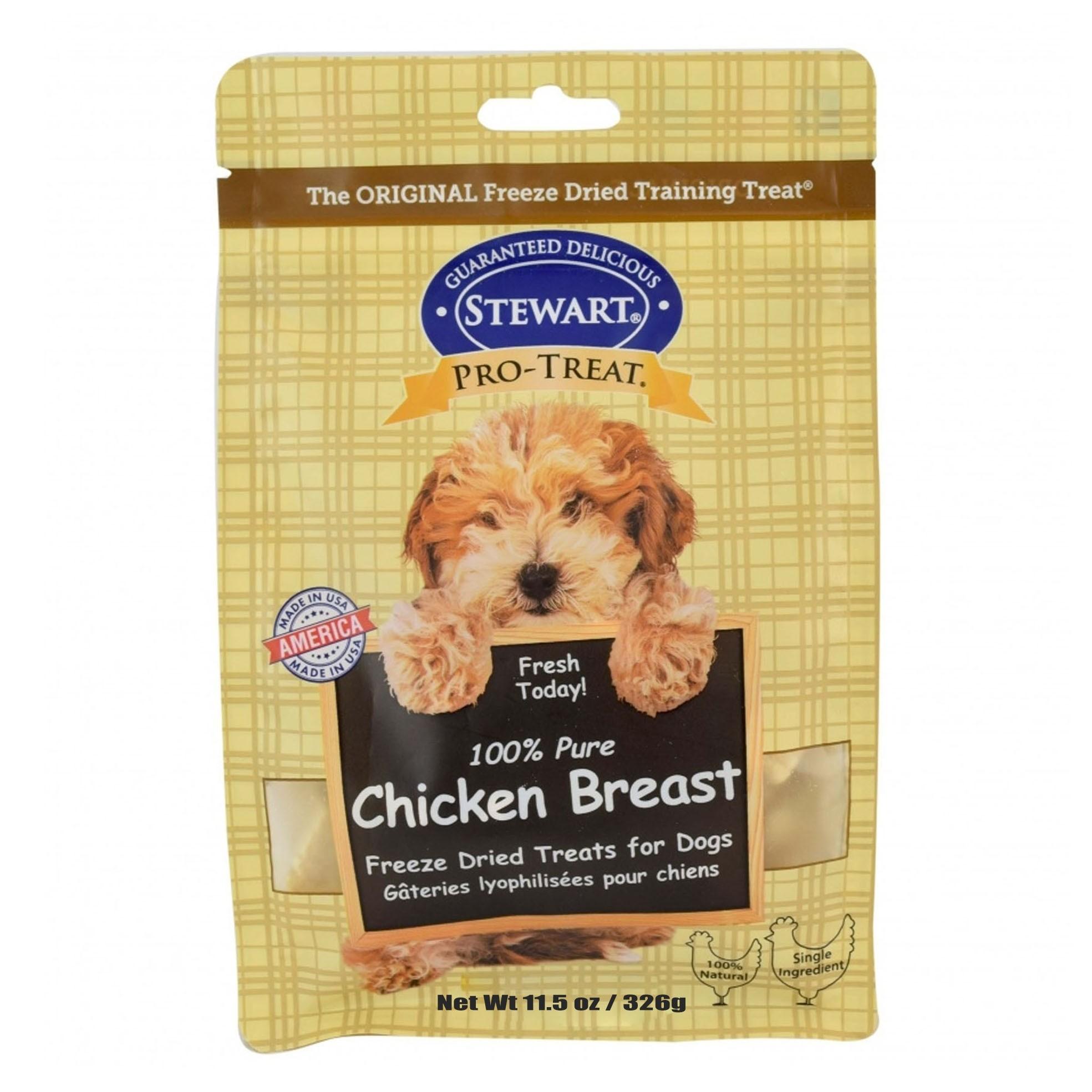 STEWART® PRO-TREAT FREEZE DRIED CHICKEN BREAST - 11.5 OZ [401709]