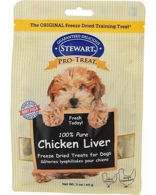 STEWART® PRO-TREAT FREEZE DRIED CHICKEN LIVER POUCH - 3 OZ