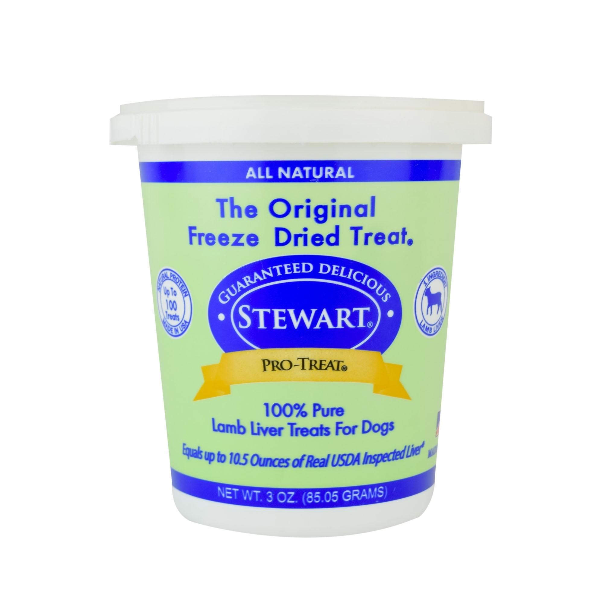 STEWART® PRO-TREAT FREEZE DRIED LAMB LIVER TUB - 3 OZ [401824]