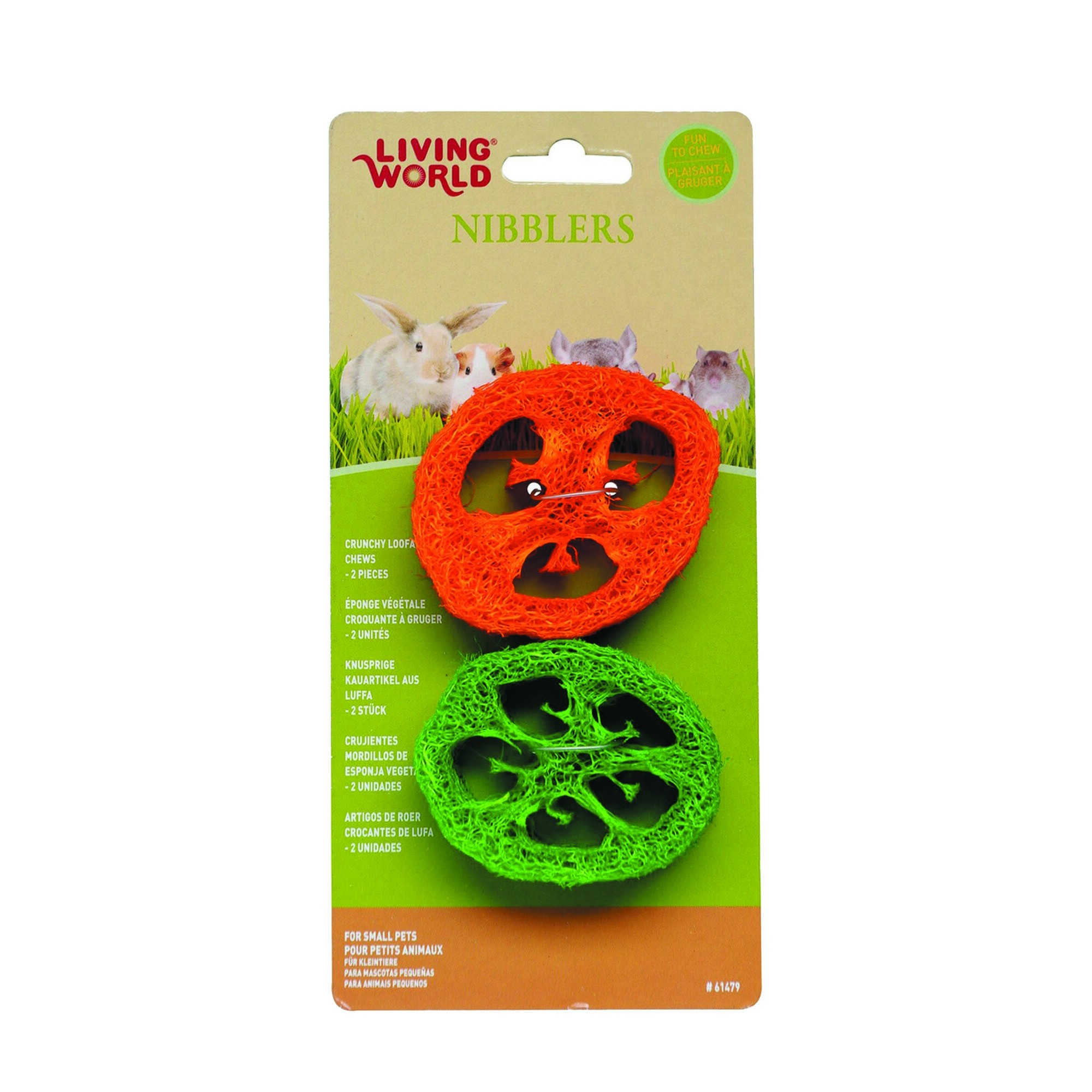 Living World Nibblers Slices Loofah Chews (61479)
