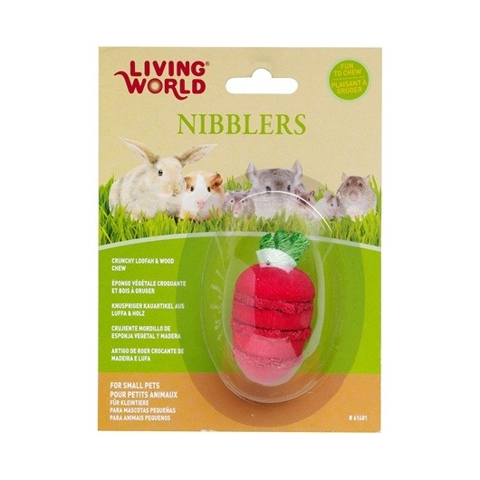 Living World Nibblers Loofah Chews - Strawberry (61481)