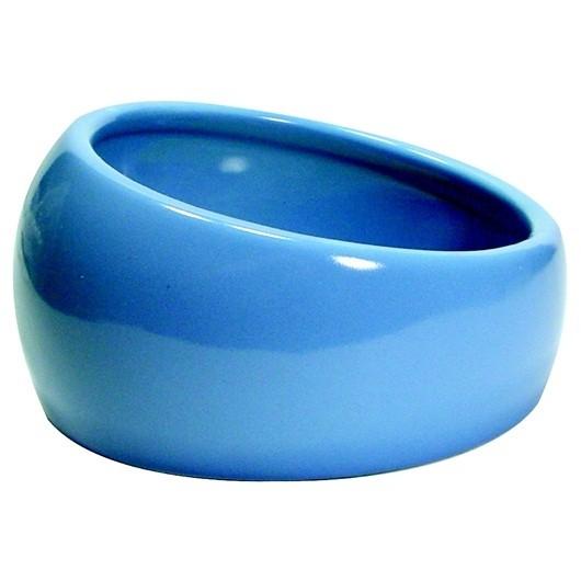 Living World Ergonomic Dish - Small - 120 mL (4.22 oz) - Blue/Ceramic (61682)