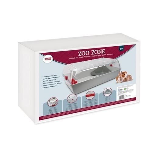 Living World Zoo Zone Grey Burgundy Small (62001)
