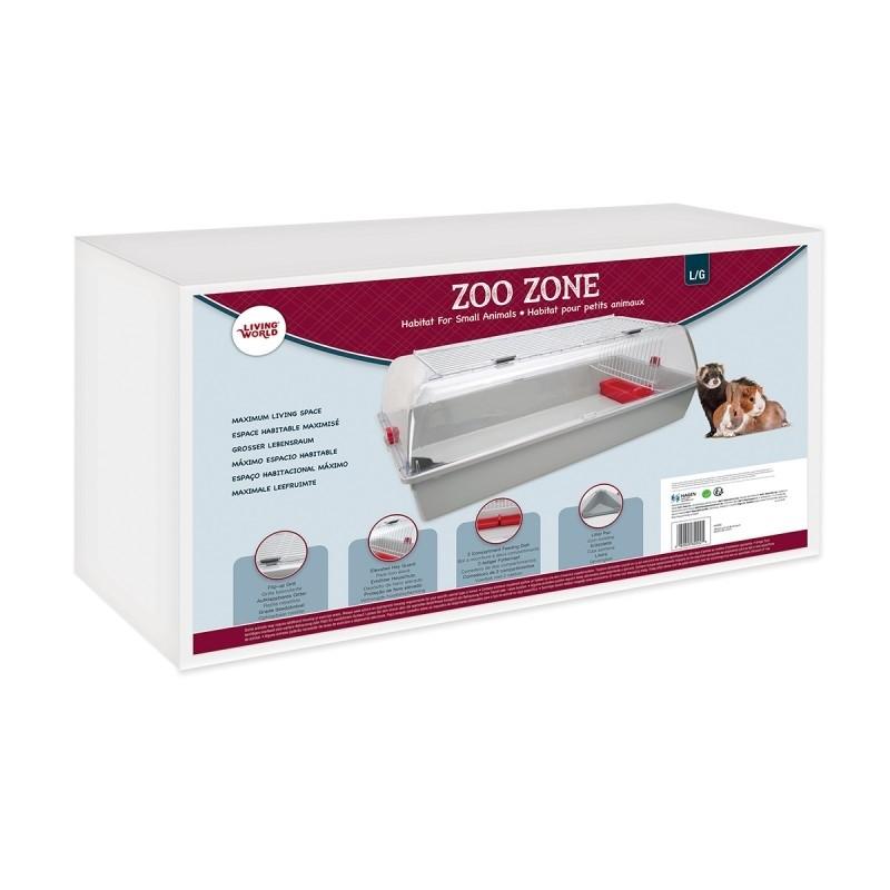 Living World Zoo Zone Grey Burgundy Large (62002)