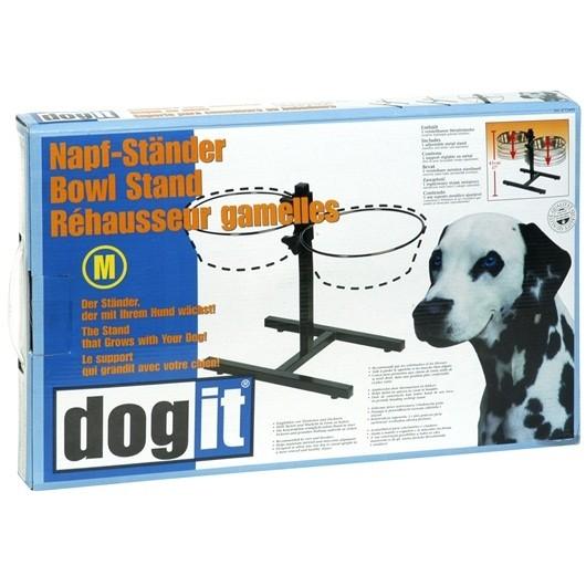 Dogit Adjustable Dog Bowl Stand - Medium - Fits 2 x 1.5L (50 oz) bowls [73495]
