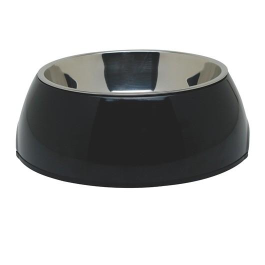 Dogit 2-in-1 Dog Dish-,XSmall, Black (160 ml/5.4 fl oz) [73538]