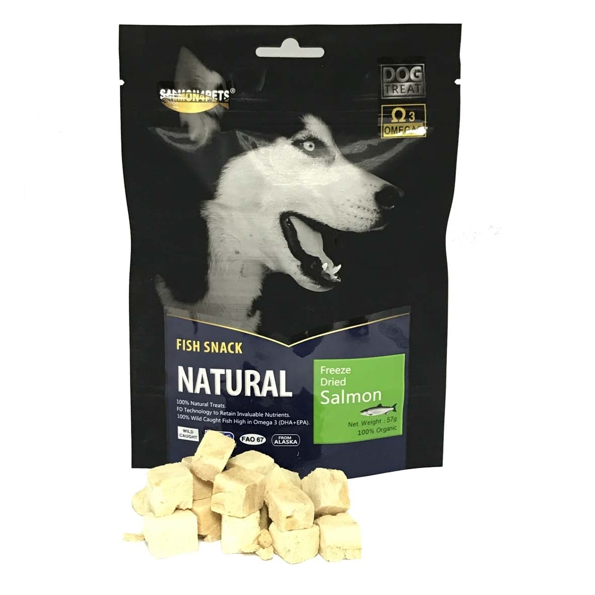 Salmon4Pets Dog Treats Freeze Dried Salmon - 57g (F51503)