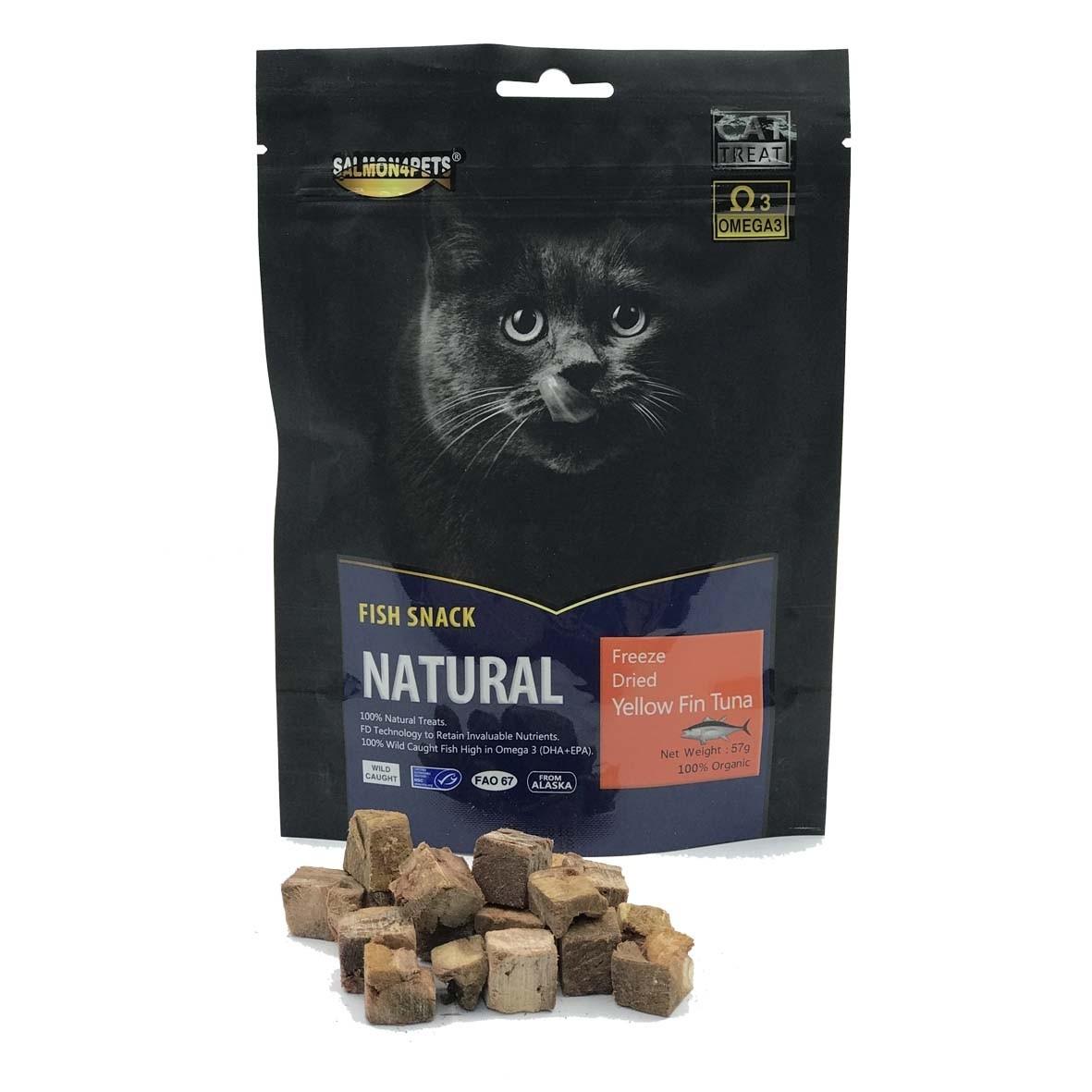 Salmon 4Pets Cat Treats Freeze Dried Yellow Fin Tuna- 57g (F52005)