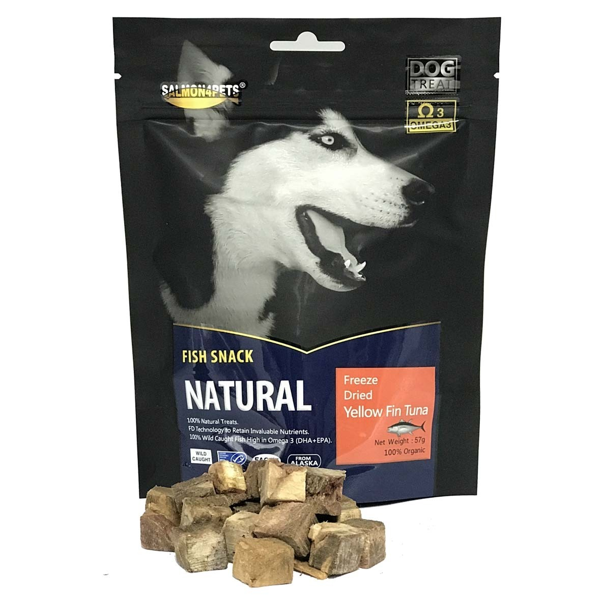 Salmon4Pets Dog Treats Freeze Dried Yellow Fin Tuna  - 57g (F52500)
