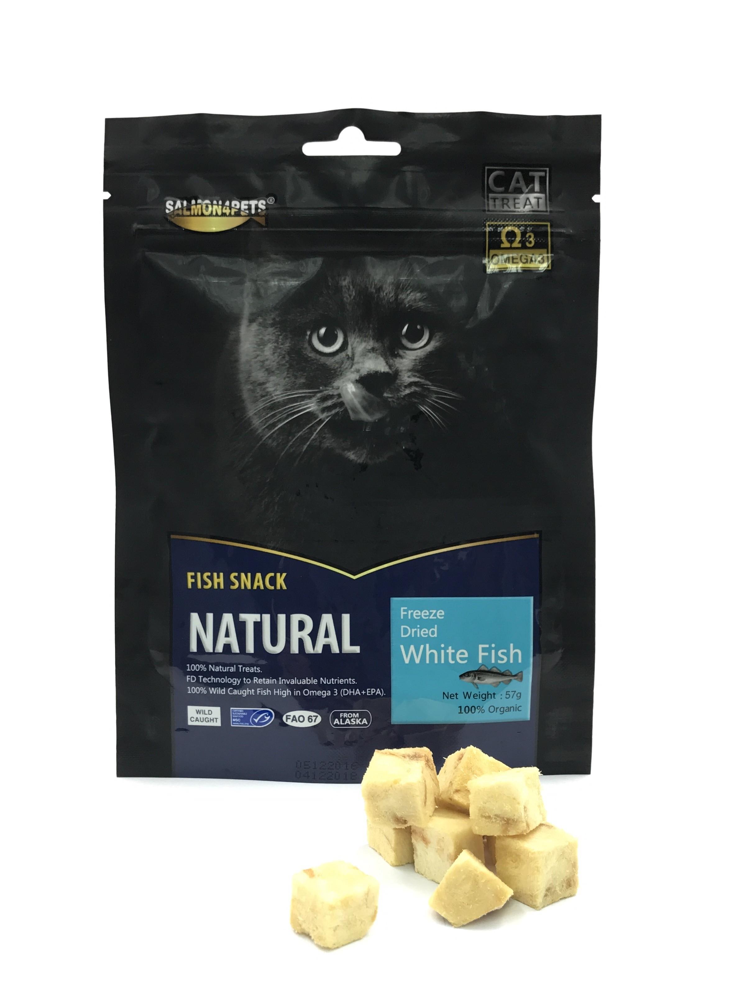 Salmon4Pets Cat Treats Freeze Dried White Fish  - 57g (F53002)