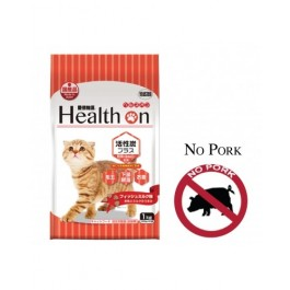 HEALTH ON ACTIVATED CARBON PLUS FOR CAT 1 KG (500 G × 2) - NO PORK