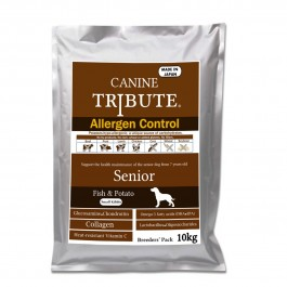 Canine Tribute Allergen Control Fish & Potato For Senior 10kg (Breeders' Pack) [113327]