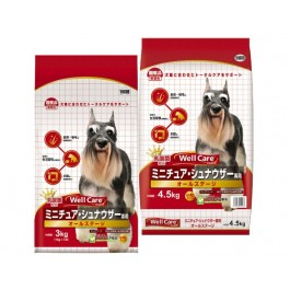 Well Care Miniature Schnauzer Dry Dog Food - 1kg x 3 packs