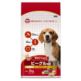 Well Care Beagle Dry Dog Food - 1kg x 3 packs [115338]