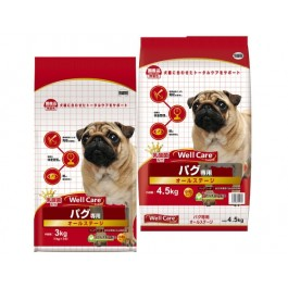 Well Care Pug Dry Dog Food - 1kg x 3 packs [115369]