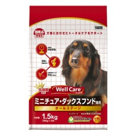 Well Care Miniature Dachshund Dry Dog Food - 500g x 3 packs [115567]