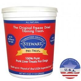 STEWART® PRO-TREAT FREEZE DRIED PORK LIVER TUB - 4OZ [400404]
