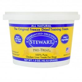 STEWART® PRO-TREAT FREEZE DRIED CHICKEN LIVER TUB - 1.5 OZ