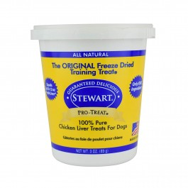 STEWART® PRO-TREAT FREEZE DRIED CHICKEN LIVER TUB - 3 OZ