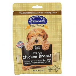 STEWART® PRO-TREAT FREEZE DRIED CHICKEN BREAST POUCH - 3 OZ
