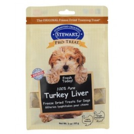 STEWART® PRO-TREAT FREEZE DRIED TURKEY LIVER POUCH - 3 OZ