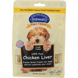 STEWART® PRO-TREAT FREEZE DRIED CHICKEN LIVER POUCH - 3 OZ