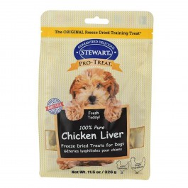STEWART® PRO-TREAT FREEZE DRIED CHICKEN LIVER POUCH - 11.5 OZ [401725]