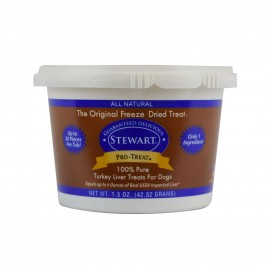 STEWART® PRO-TREAT FREEZE DRIED TURKEY LIVER TUB - 1.5 OZ [401802]