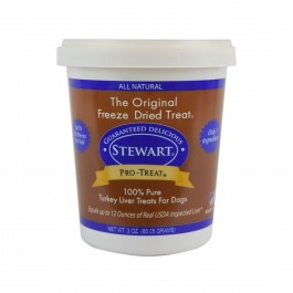 STEWART® PRO-TREAT FREEZE DRIED TURKEY LIVER TUB - 3 OZ [401804]