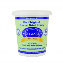 STEWART® PRO-TREAT FREEZE DRIED LAMB LIVER TUB - 3 OZ [401824]