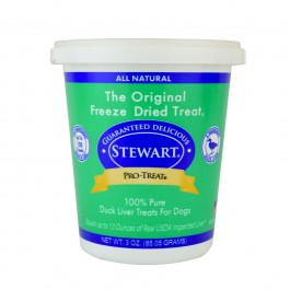 STEWART® PRO-TREAT FREEZE DRIED DUCK LIVER TUB - 3 OZ [401844]