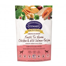 STEWART® RAW NATURAL FREEZE DRIED CHICKEN & SALMON RECIPE 3.75 OZ [402766]