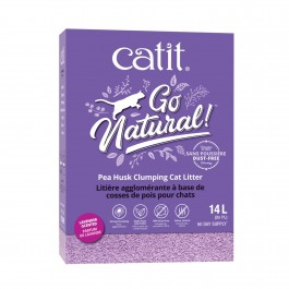 Catit Go Natural Pea Husk Clumping Cat Litter Lavender Scented 14L 2x7L (44146)