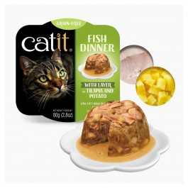 Catit Fish Dinner with Tilapia & Potato for Cats 80g (44713)