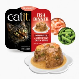 Catit Fish Dinner with Shrimp & Green Beans for Cats 80g (44715)