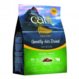 Catit Gold Fern Gently Air-dried Chicken with Green-Lipped Mussel Adult Cat Food 400g (44723) NEW