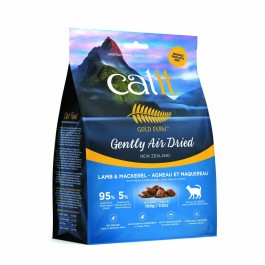 Catit Gold Fern Gently Air-dried Lamb & Mackerel with Green-Lipped Mussel Adult Cat Food 100g (44725) NEW