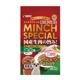 Sunrise Minch Special Semi-Moist with Green & Yellow vegetables Adult Small Breed Dogs 1.2 kg (919411)