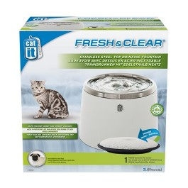 Catit Fresh & Clear Stainless Steel Water Fountain 2L (50023)