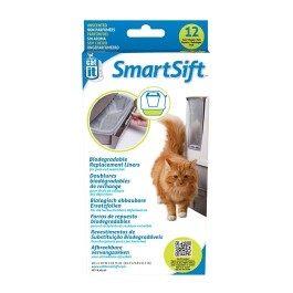 Catit Design SmartSift Biodegradable Replacement Liners - 12-pack For Pull-Out Waste Bin (50540)