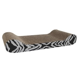Catit Style Patterned Cat Scratcher with catnip - White Tiger, Lounge (52420)