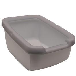 Catit Rimmed Cat Pan, Warm Gray [58702]