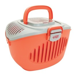 Living World Paw2go Small Pets Carrier - Salmon colour (60899)