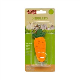 Living World Nibblers Wood Chews - Carrot on Stick (61471)