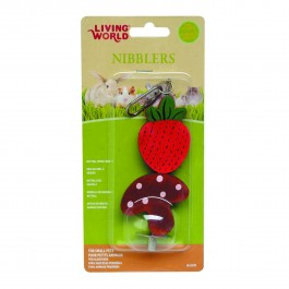 Living World Nibblers Wood Chews Strawberry & Mushroom Stick (61475)