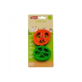 Living World Nibblers Slices Loofah Chews