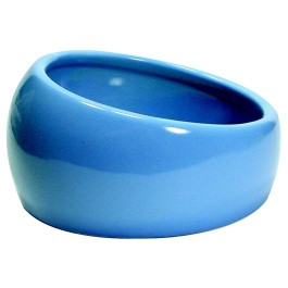 Living World Ergonomic Dish - Small - 120 mL (4.22 oz) - Blue/Ceramic (61682)