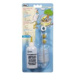 Dogit Pet Nursing Kit - 1x 118 ml (4 fl oz bottle), 1x brush, 1x spare cap, 2 extra nipples [D512]