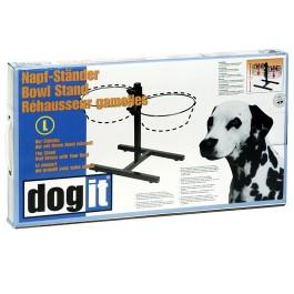 Dogit Adjustable Dog Bowl Stand - Large - Fits 2 x 2L (67.2 oz) dog bowls (73496)
